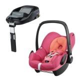 Pachet Scaun auto Maxi Cosi Pebble spicy pink cu baza auto Familyfix