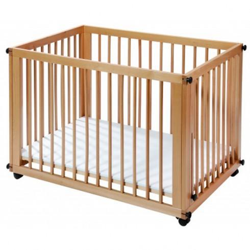 Patut copii din lemn Easy Baby Sleep&Play natur