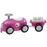 Trenulet Ecoiffier cu vagon si cuburi roz
