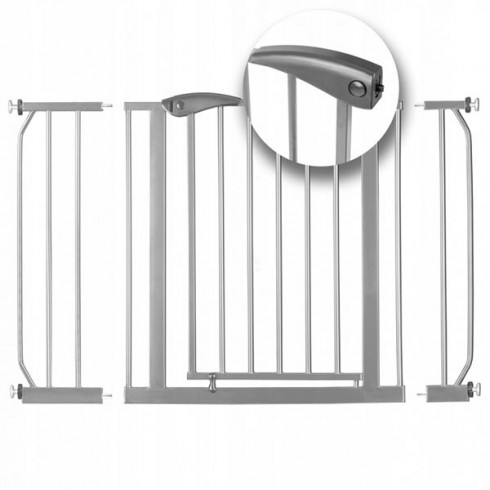 Poarta de siguranta Ricokids 7408 75-115 cm gri