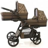 Carucior Pj Baby Pj Stroller Lux 3 in 1 brown