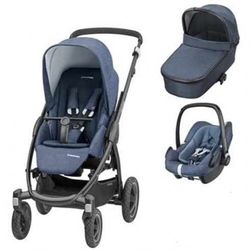 Pachet Maxi Cosi Stella carucior landou scaun auto nomad blue