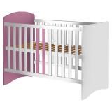 Patut copii din lemn Hubners Anne 120x60 cm alb-roz