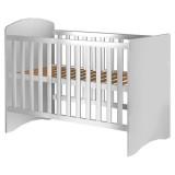 Patut copii din lemn Hubners Anne 120x60 cm alb