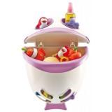 Cutie Thermobaby Bubble Fish pentru jucarii de baie si sampon Orchid