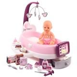 Set cadita si accesorii pentru papusi Smoby Baby Nurse Nursery mov {WWWWWproduct_manufacturerWWWWW}ZZZZZ]