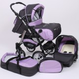 Carucior Baby Merc Junior Plus 3 in 1 Graphite violet