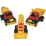Set masinute Ucar Toys Autobasculanta Buldoexcavator si Betoniera