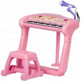 Pian cu microfon Ecotoys Bb375a roz