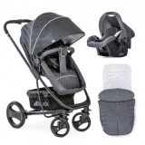 Carucior Hauck Pacific 4 Shop'n Drive 2 in 1 melange charcoal