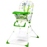 Scaun de masa Kidcity Niami Mamakids cu cadru alb verde cu floricele