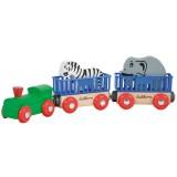 Tren din lemn Eichhorn Animal cu 2 figurine {WWWWWproduct_manufacturerWWWWW}ZZZZZ]