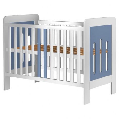 Patut copii din lemn Hubners Sophie 120x60 cm alb-albastru {WWWWWproduct_manufacturerWWWWW}ZZZZZ]