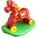 Calut balansoar Super Plastic Toys Speedy cu roti red