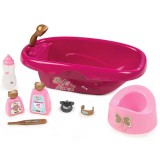 Set de baie pentru papusi Smoby Baby Nurse cu 9 accesorii