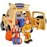 Masina Simba Fireman Sam Tom's 4x4 cu 1 figurina si accesorii