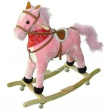 Calut balansoar cu roti MyKids Plus roz