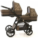 Carucior Pj Baby Pj Stroller Lux 2 in 1 brown
