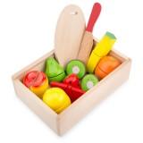 Jucarie New Classic Toys Cutie cu fructe