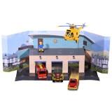 Pista de masini Dickie Toys Fireman Sam, Sam Fire Rescue Team cu 3 masinute, 1 elicopter si 1 figurina {WWWWWproduct_manufacturerWWWWW}ZZZZZ]
