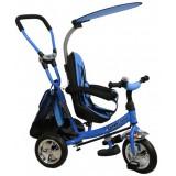Tricicleta cu copertina si sezut reversibil Baby Mix Safari WS611 albastru