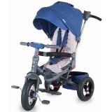 Tricicleta cu copertina si sezut reversibil Coccolle Corso albastru