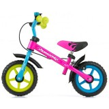 Bicicleta fara pedale Milly Mally Dragon Z multicolor