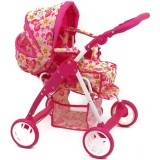Carucior pentru papusi Baby Mix Pink Butterfly 2 in 1