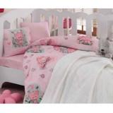 Lenjerie patut Kreis Design CottonBox Mini 5 piese pembe pink