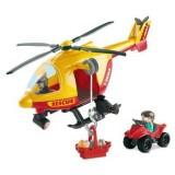 Set Ecoiffier Echipa de salvare cu elicopter