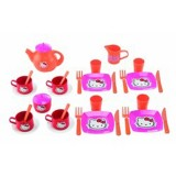 Set Ecoiffier Hello Kitty Mic dejun si Set ceai
