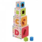 Cuburi de construit Jumini cu forme si litere