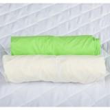 Set 2 x Cearsaf BabyNeeds cu elastic 120x60 cm Crem si Verde
