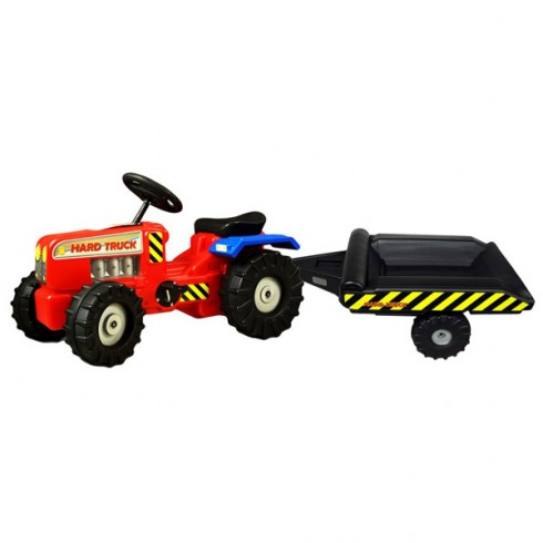 Tractor Super Plastic Toys Hard Truck cu remorca red {WWWWWproduct_manufacturerWWWWW}ZZZZZ]