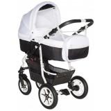 Carucior Pj Baby Pj Stroller Comfort 2 in 1 white black