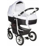 Carucior Pj Baby Pj Stroller Comfort 3 in 1 white black