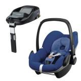 Pachet Scaun auto Maxi Cosi Pebble blue base cu baza auto Familyfix