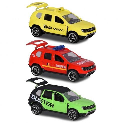 Set Majorette Dacia Duster masina taxi, masina de pompieri si masina negru cu verde {WWWWWproduct_manufacturerWWWWW}ZZZZZ]