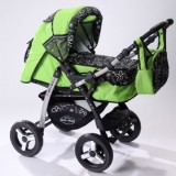 Carucior Baby Merc Junior 2 in 1 green flowers