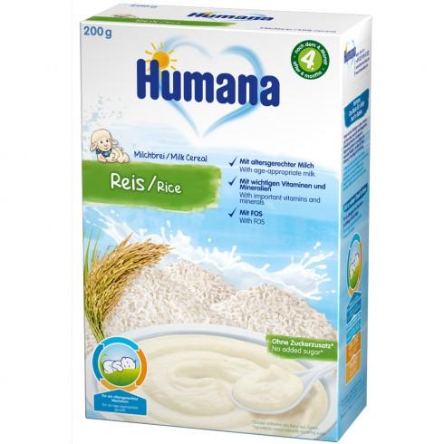Cereale Humana cu fulgi de orez de la 4 luni 200 g
