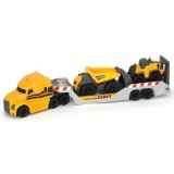 Camion Dickie Toys Mack Volvo Micro Builder cu remorca, buldozer si camion basculant {WWWWWproduct_manufacturerWWWWW}ZZZZZ]