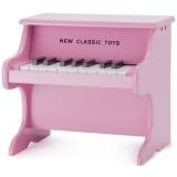 Pian din lemn New Classic Toys roz