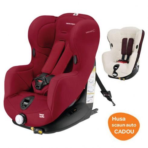 Scaun auto Bebe Confort Iseos Isofix raspberry red cu husa de vara