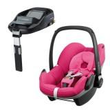 Pachet Scaun auto Maxi Cosi Pebble pink passion cu baza auto Familyfix