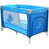 Patut pliabil cu doua nivele Coto Baby Samba Plus albastru