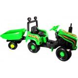 Tractor Super Plastic Toys Mega Farm cu remorca green