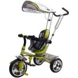 Tricicleta cu copertina Sun Baby Super Trike verde
