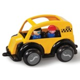 Masina Taxi VikingToys Jumbo cu 2 figurine