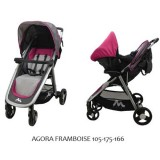 Carucior Travel System FastFoold Metro 2 in 1 framboise