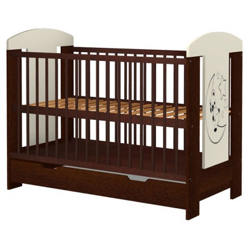 Patut copii din lemn Hubners Carolin Ursulet 120x60 cm venghe cu sertar {WWWWWproduct_manufacturerWWWWW}ZZZZZ]